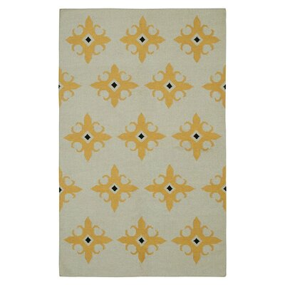 Hand-Woven Beige Area Rug Rug Size: Rectangle 3 x 5