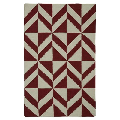 Hand-Woven Beige/Red Area Rug Rug Size: Runner 26 x 8