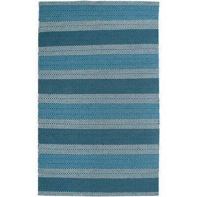 Hand-Woven Blue Area Rug Rug Size: 9 x 12