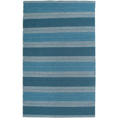Hand-Woven Blue Area Rug Rug Size: Runner 26 x 8