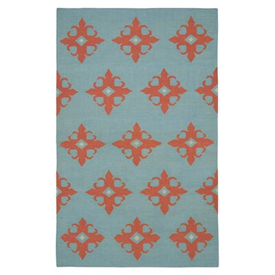 Hand-Woven Light Blue Area Rug Rug Size: Rectangle 2 x 3