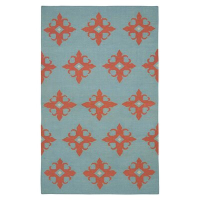 Hand-Woven Light Blue Area Rug Rug Size: 5 x 8
