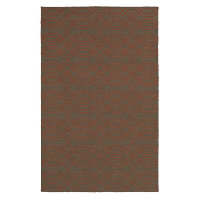 Hand-Woven Brown Area Rug Rug Size: Rectangle 8 x 10
