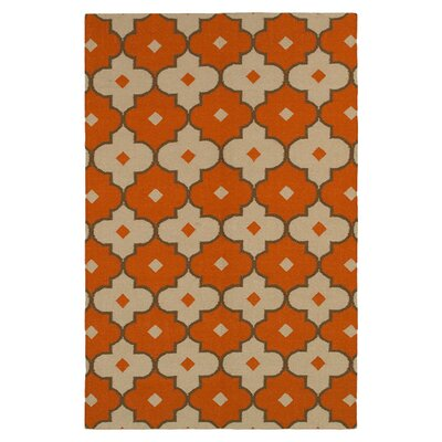 Hand-Woven Rust Area Rug Rug Size: Rectangle 3 x 5