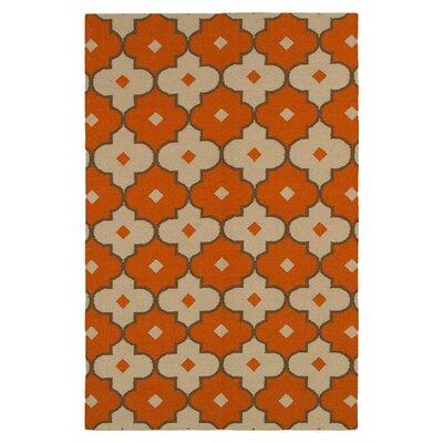 Hand-Woven Rust Area Rug Rug Size: 3 x 5