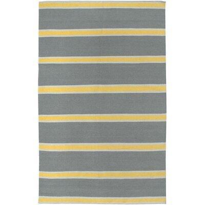 Hand-Woven Gray Area Rug Rug Size: Rectangle 5 x 8