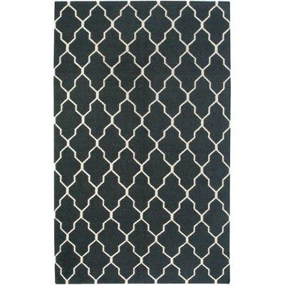 Hand-Woven Black Area Rug Rug Size: Runner 26 x 8