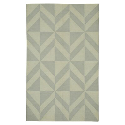 Hand-Woven Light Gray Area Rug Rug Size: 5 x 8