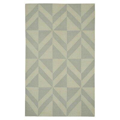 Hand-Woven Light Gray Area Rug Rug Size: 5 x 8