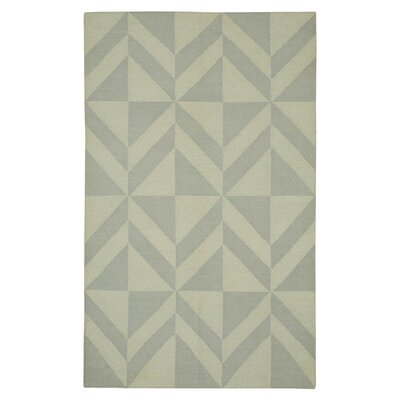 Hand-Woven Light Gray Area Rug Rug Size: 8 x 10