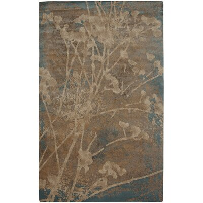 Blue Area Rug Rug Size: Rectangle 92 x 126