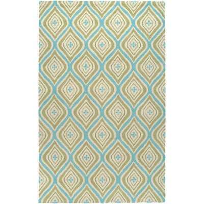 Hand-Tufted Green Area Rug Rug Size: Round 8