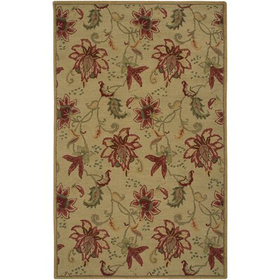 Hand-Tufted Gold Area Rug Rug Size: Round 8'
