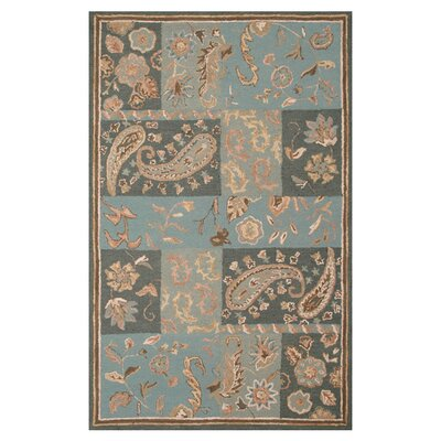 Hand-Tufted Blue Area Rug Rug Size: Runner 26 x 8