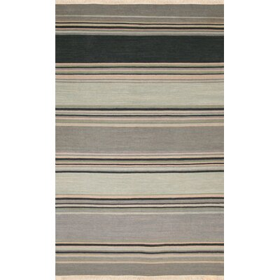 Hand-Woven Black/Gray Area Rug Rug Size: Rectangle 2 x 3