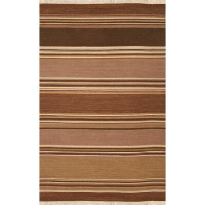 Hand-Woven Brown Area Rug Rug Size: 2 x 3