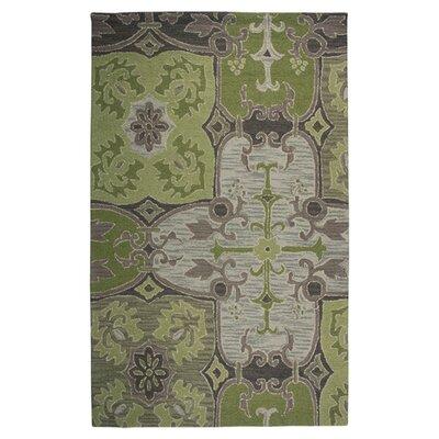 Hand-Tufted Green/Beige Area Rug Rug Size: Runner 26 x 8