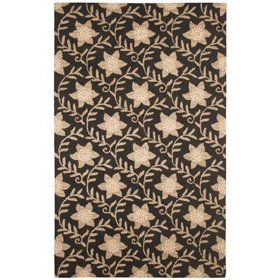 Hand-Tufted Black/Beige Area Rug Rug Size: 3 x 5