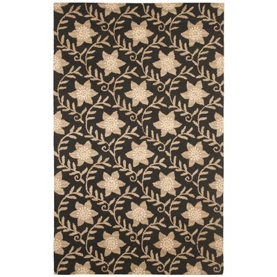 Hand-Tufted Black/Beige Area Rug Rug Size: 5 x 8