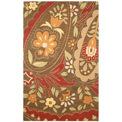 Hand-Tufted Red Area Rug Rug Size: 3 x 5