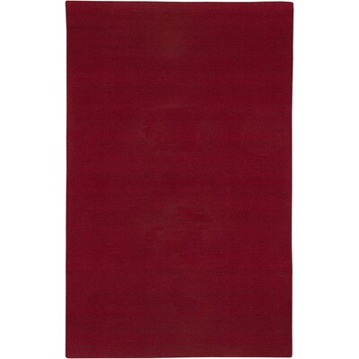 Hand-Tufted Red Area Rug Rug Size: 8 x 10