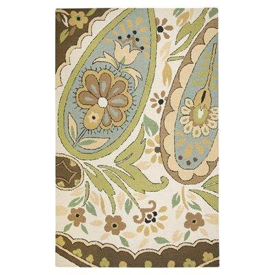 Hand-Tufted Beige Area Rug Rug Size: 8 x 10