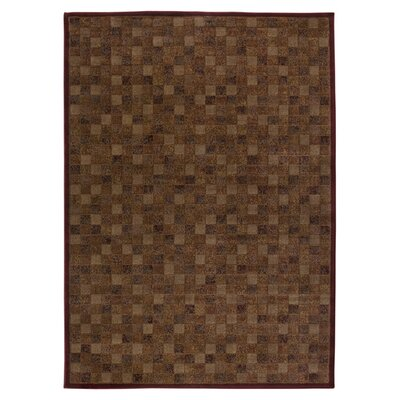 Hand-Woven Burgundy Area Rug Rug Size: Rectangle 4 x 57
