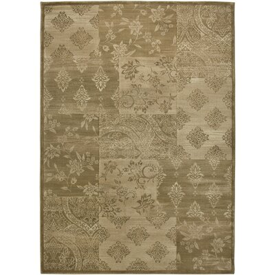 Hand-Woven Gold Area Rug Rug Size: 53 x 77