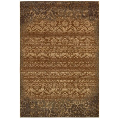 Bellevue Brown Area Rug Rug Size: 92 x 126