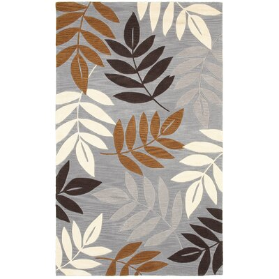 Hand-Tufted Gray Area Rug Rug Size: Rectangle 3 x 5