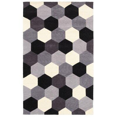 Hand-Tufted Area Rug Rug Size: 5 x 8