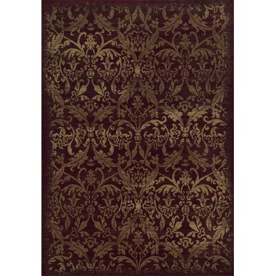 Red Area Rug Rug Size: Rectangle 67 x 96