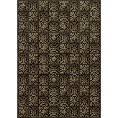 Black Area Rug Rug Size: Rectangle 910 x 126