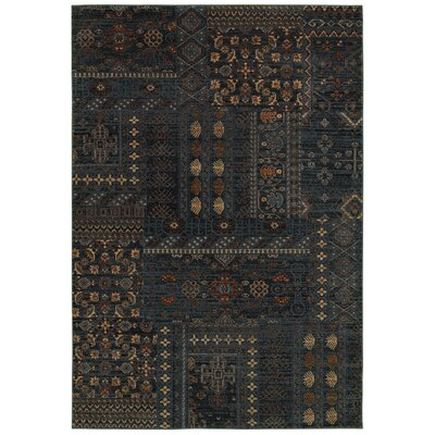 Bellevue Blue Area Rug Rug Size: Rectangle 53 x 77