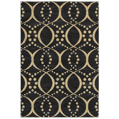 Black/Beige Area Rug Rug Size: 910 x 126