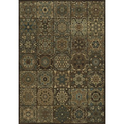 Brown Area Rug Rug Size: 910 x 126