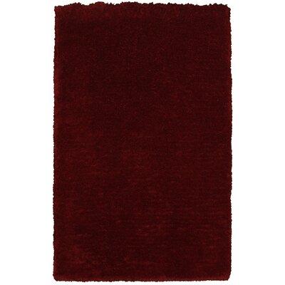 Hand-Woven Burgundy Area Rug Rug Size: 5 x 8