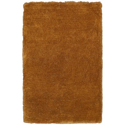 Hand-Tufted Gold Area Rug Rug Size: Rectangle 36 x 56