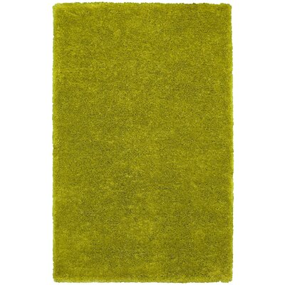 Hand-Tufted Light Green Area Rug Rug Size: Round 3
