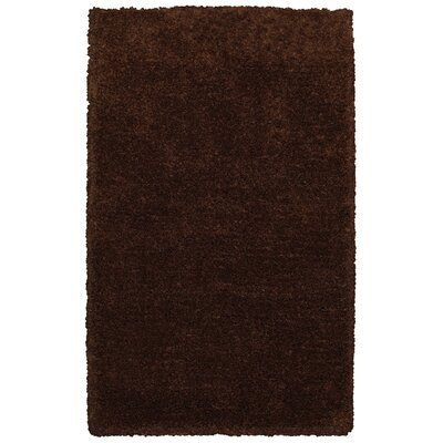 Hand-Tufted Brown Area Rug Rug Size: Rectangle 8 x 10