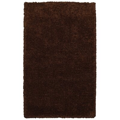 Hand-Tufted Brown Area Rug Rug Size: Rectangle 36 x 56