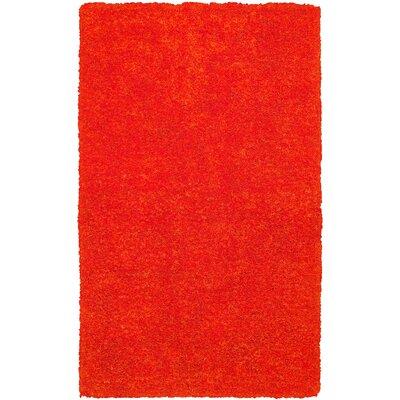 Hand-Tufted Light Orange Area Rug Rug Size: 5 x 8