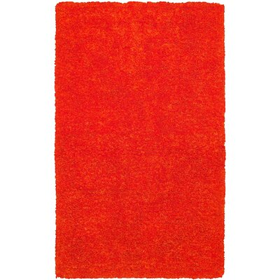 Hand-Tufted Light Orange Area Rug Rug Size: Rectangle 36 x 56