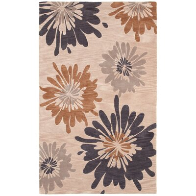 Hand-Tufted Ivory Area Rug Rug Size: 3 x 5