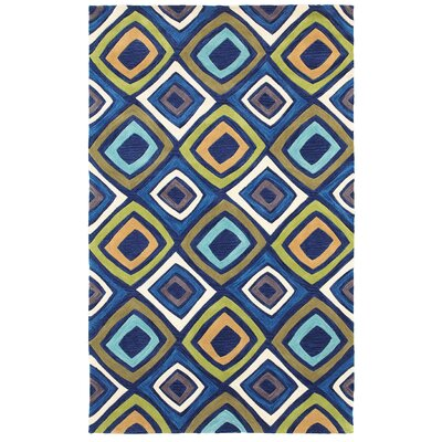 Hand-Tufted Blue/Yellow Area Rug Rug Size: Rectangle 3 x 5