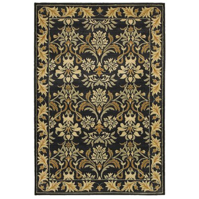 Black/Tan Area Rug Rug Size: Rectangle 6'7