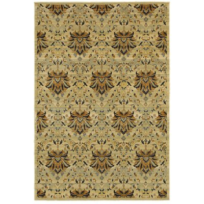 Beige Area Rug Rug Size: Rectangle 67 x 96