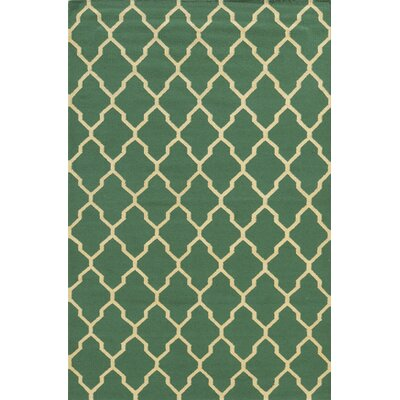 Hand-Woven Green Area Rug Rug Size: 3 x 5