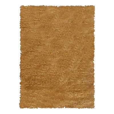 Hand-Woven Gold Area Rug Rug Size: Rectangle 47 x 77