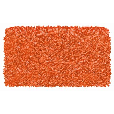 Hand-Woven Orange Area Rug Rug Size: Rectangle 47 x 77